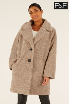 F&F Natural Chenille Teddy Coat