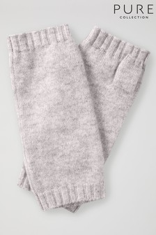 Pure Collection Grey Cashmere Mitts