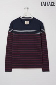 FatFace Blue Caldback Stripe T-Shirt
