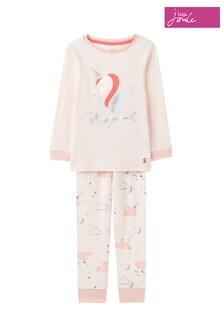 Joules Pink Sleepwell Organic Pyjama Set