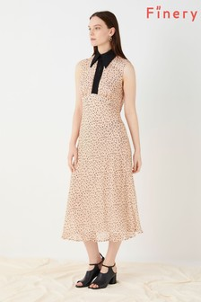 Finery London Pink Ellerdale Printed Georgette Dress