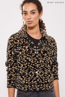 Mint Velvet Animal Print Western Jacket