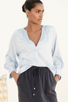 V-Neck Overhead Blouse