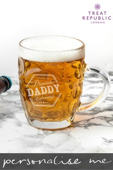 Personalised Premium Beer Glass by Treat Republic
