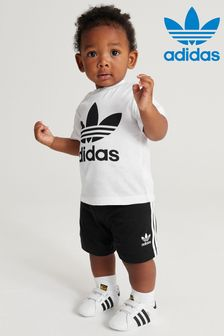 adidas Originals Infant Black/White Trefoil T-Shirt And Short Set