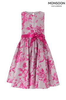 Monsoon Children Pink Toile De Joie Dress