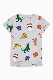 男童圣诞满幅印花T恤 (3个月-6岁)