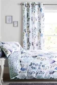 Cotton Sateen Botanical Bed Set