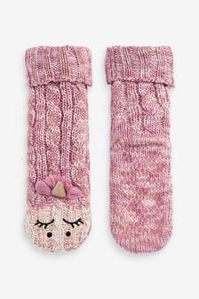 1 Pack Cosy Unicorn Slipper Socks