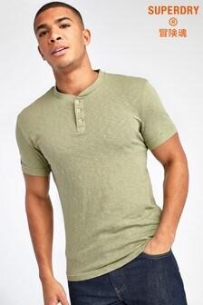 Superdry Olive Grandad T-Shirt
