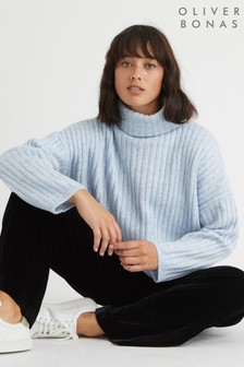 Oliver Bonas Blue Moon Roll Neck Jumper