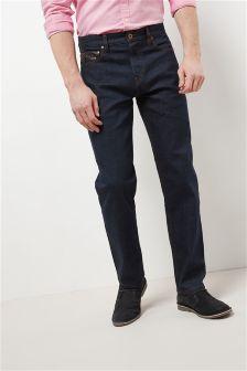 Leather Trim Jeans
