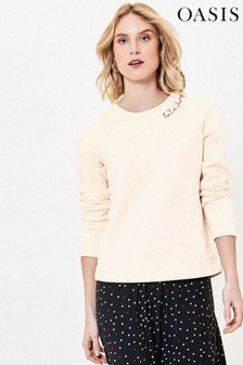 Oasis Off White Love Always Sweater