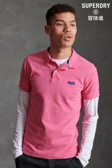 Superdry Bright Pink Pique Poloshirt