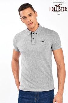 Hollister Grey Short Sleeve Poloshirt