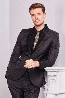Leopard Print Tuxedo Suit: Jacket