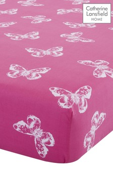 Butterfly Easy Care Fitted Sheet by Catherine Lansfield