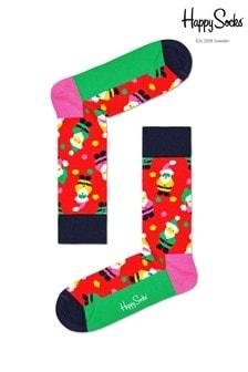 Happy Socks Men's Red Santa Socks