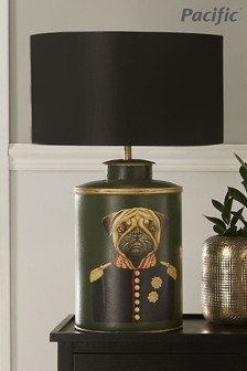 Pacific Green Hand Painted Dog Table Lamp