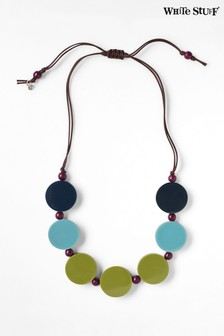 White Stuff Blue Reversible Cord Necklace