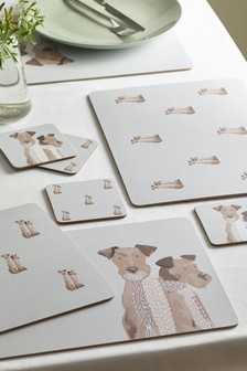 Set of 4 Digby & Doris Dogs Placemats & Coasters