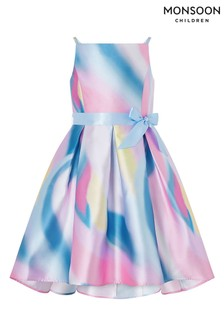 Monsoon Natural Olene Unicorn Ombre High Low Dress
