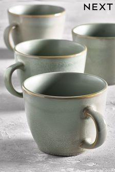 Set of 4 Logan Reactive Glaze Mugs
