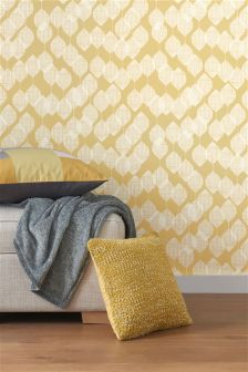 Paste The Wall Ochre Leaf Wallpaper
