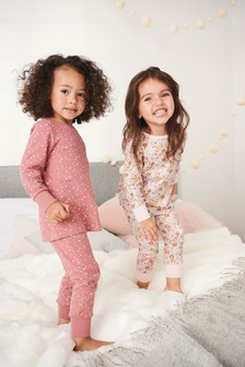 2 Pack Floral Snuggle Pyjamas (9mths-16yrs)