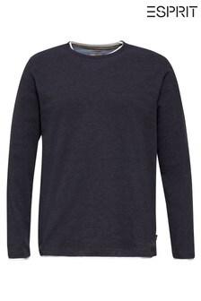 Esprit Blue Long Sleeved 2-In-1 T-Shirt