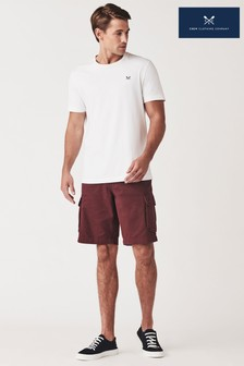 Crew Clothing Company Purple Cargo Shorts