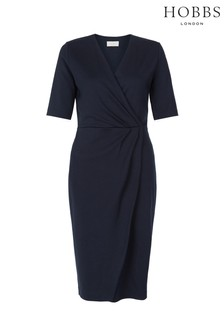 Hobbs Blue Ponte Olive Dress