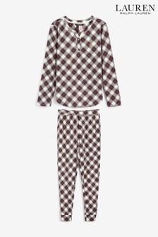 Lauren Ralph Lauren Cream Brushed Cloud Jersey Jogger Pyjama Set