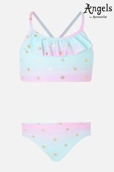 Angels By Accessorize Blue Mermaid Shell Print Bikini Set