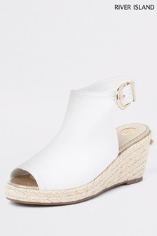 River Island White Espadrille Wedges