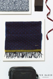 Ted Baker Navy Spot Scarf