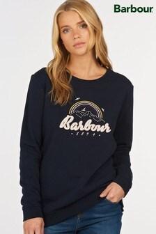 Barbour® Navy Embroidered Rainbow Seagrass Sweatshirt