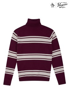 Original Penguin® Red LS 5GG Turtle Neck Jumper