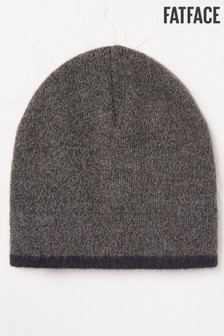 FatFace Grey Soft Brushed Beanie
