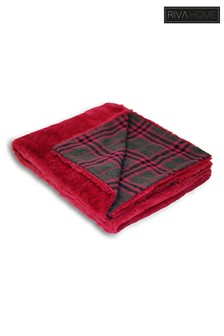 Zermatt Faux Fur & Tartan Throw by Riva Home