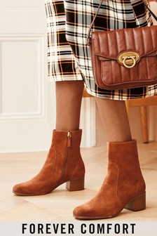 Square Toe Block Heel Ankle Boots