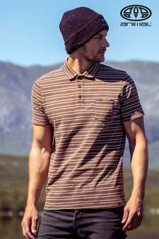 Animal Brown Lyfer Polo Shirt