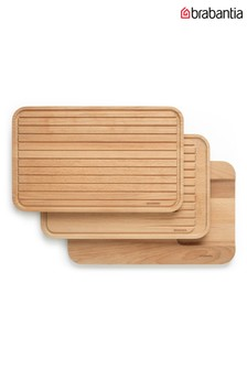 Set of 3 Brabantia Wooden Chopping Boards