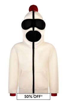Boys White Zip Up Top With Lenses