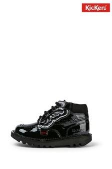 Kickers® Black Patent Hi Boots