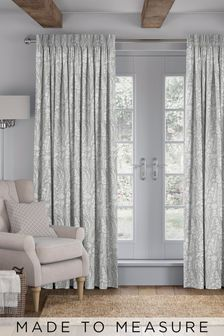 Garrick Aluminium Grey Made To Measure Curtains