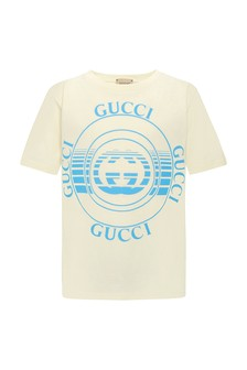 Boys Cream Cotton T-Shirt