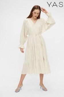 Y.A.S Cream Multi Stripe Fabrina Boho Dress
