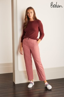 Boden Pink Rothes Seam Detail Trousers