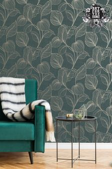 Art For The Home Emerald Boutique Royal Palm Wallpaper